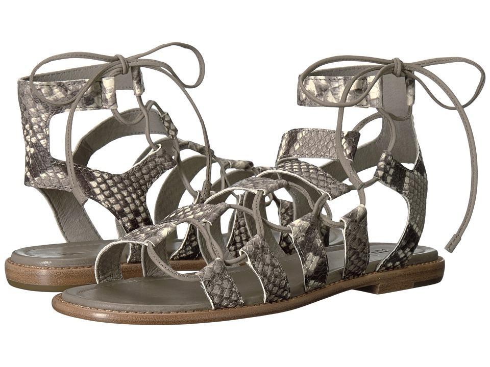 Frye - Blair Side Ghillie (Grey Snake Embossed Goat) Women's Dress Sandals