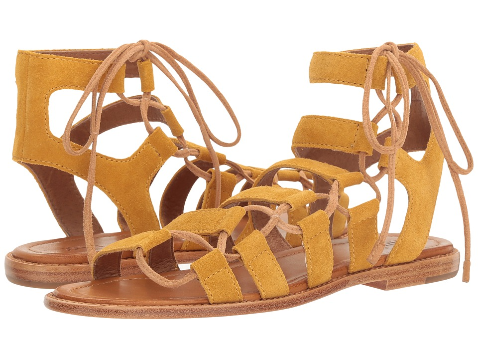 Frye - Blair Side Ghillie (Yellow Soft Oiled Suede) Women's Dress Sandals