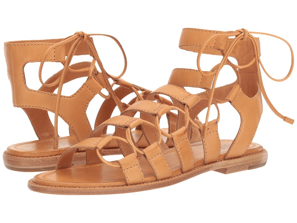 Frye - Blair Side Ghillie (Tan Polished Soft Full Grain) Women's Dress Sandals