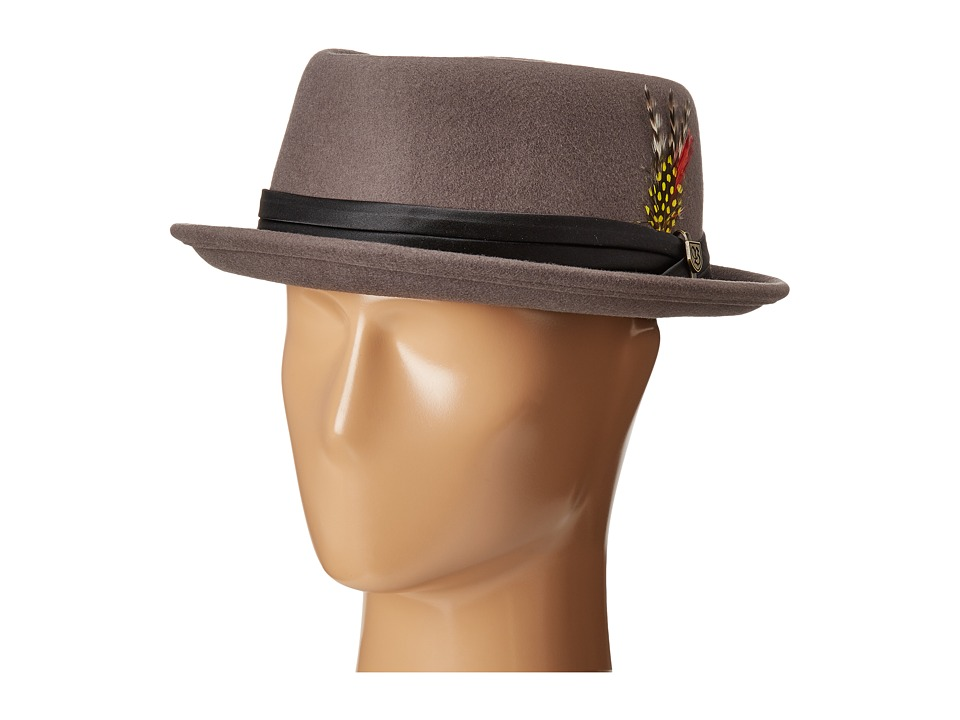 Brixton - Stout Pork Pie Hat (Grey/Black) Traditional Hats