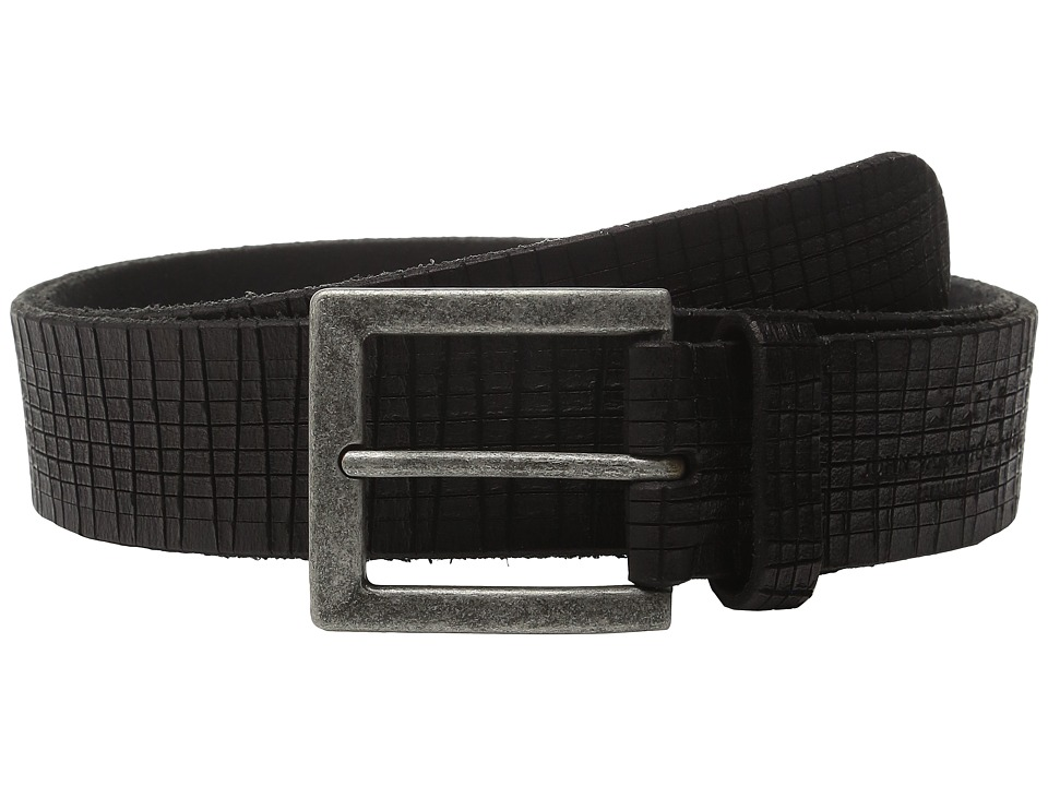 John Varvatos - 40mm Artisan Textured Leather Belt (Black) Men's Belts