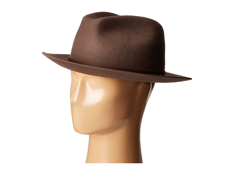 Brixton - Hopkins Fedora (Brown) Fedora Hats