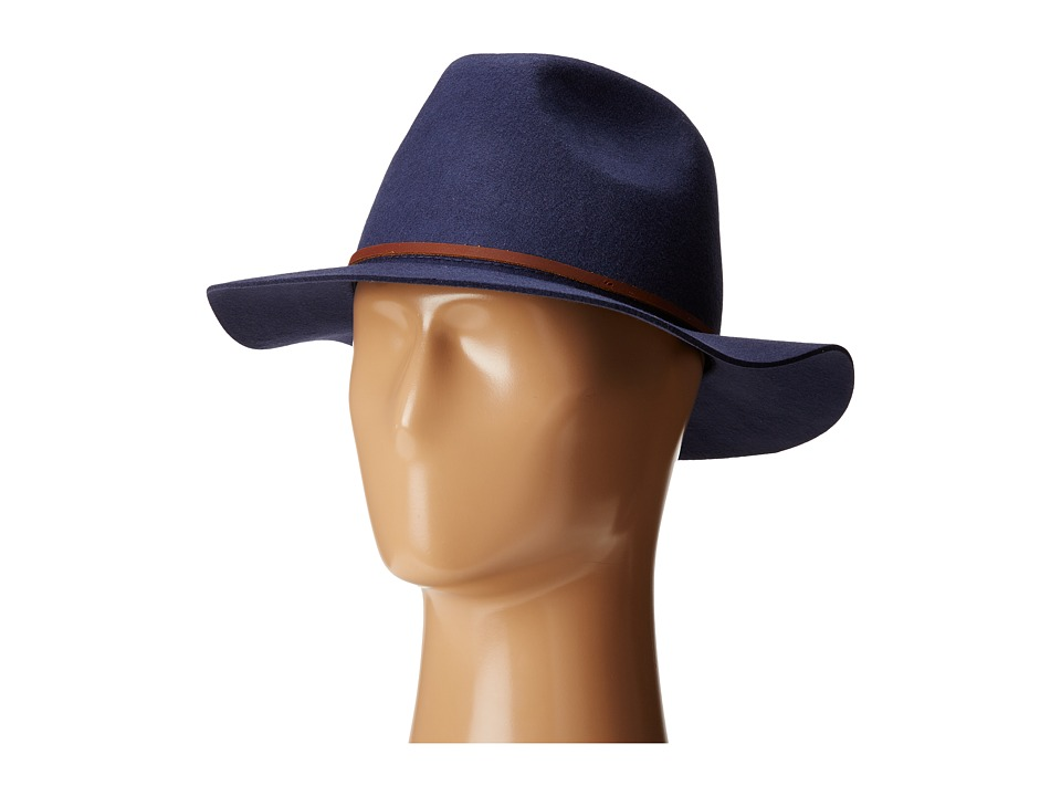 Brixton - Wesley Fedora (Washed Navy) Fedora Hats