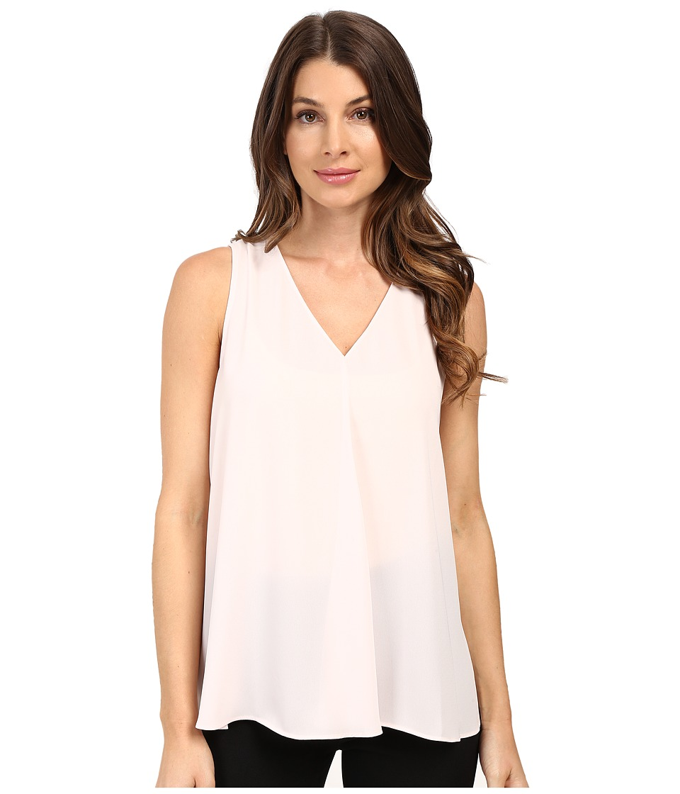 Vince Camuto - Sleeveless V-Neck Drape Front Blouse (Flora Pink) Women's Blouse