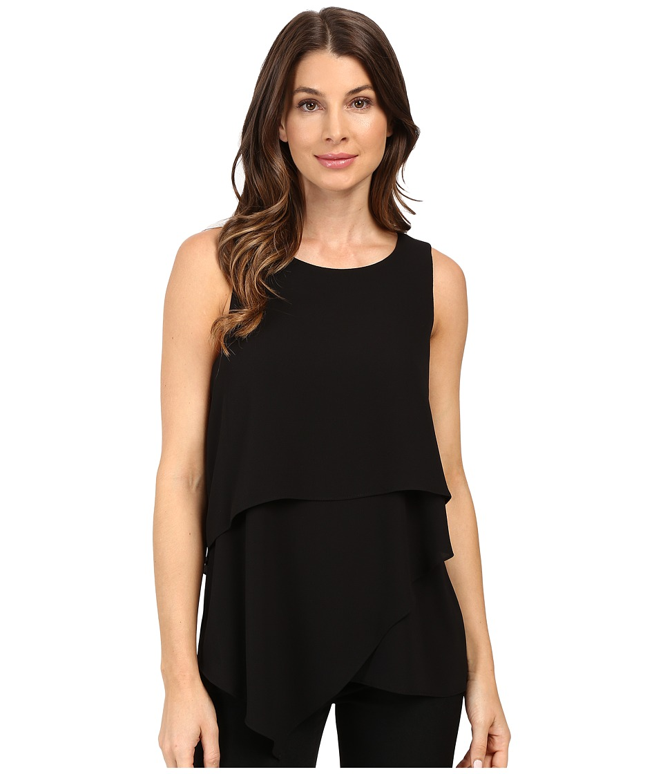 Vince Camuto - Sleeveless Asymmetrical Layered Blouse (Black) Women's Blouse