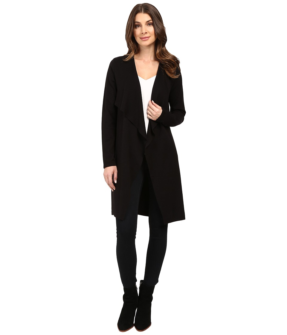 Vince Camuto - Long Sleeve Drape Front Maxi Cardigan (Black) Women's Sweater