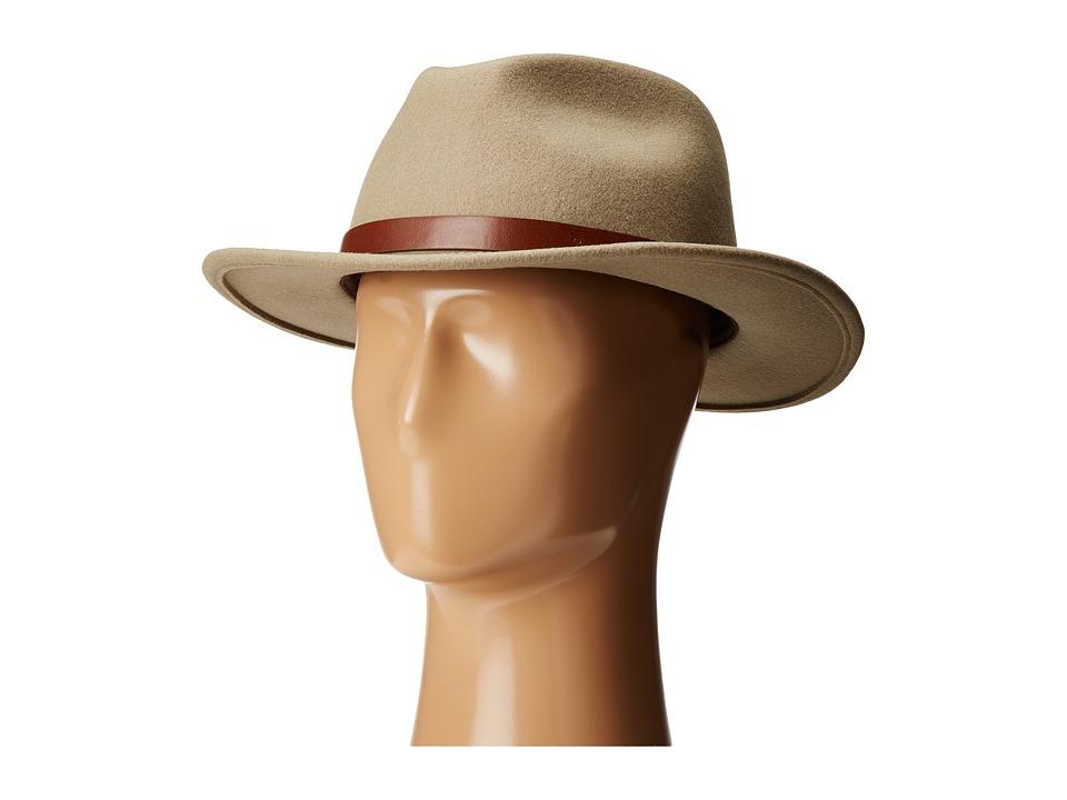 Brixton - Messer Fedora (Khaki) Fedora Hats