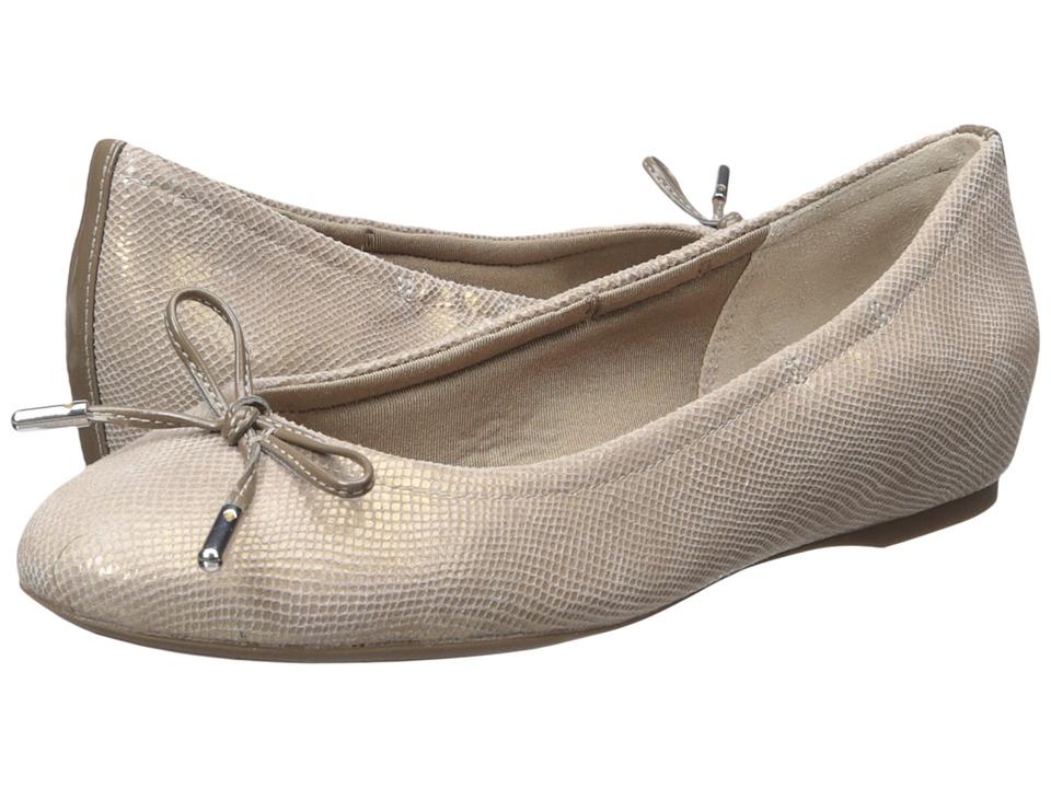 Rockport Total Motion Hidden Wedge Tied Ballet (Ash Snake) Women