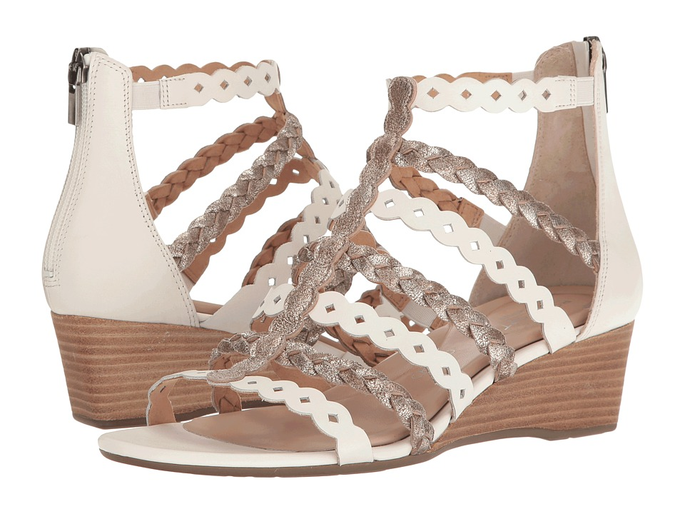 Rockport - Total Motion 55mm Wedge Gladiator Sandal (White/Gold) Women's Wedge Shoes