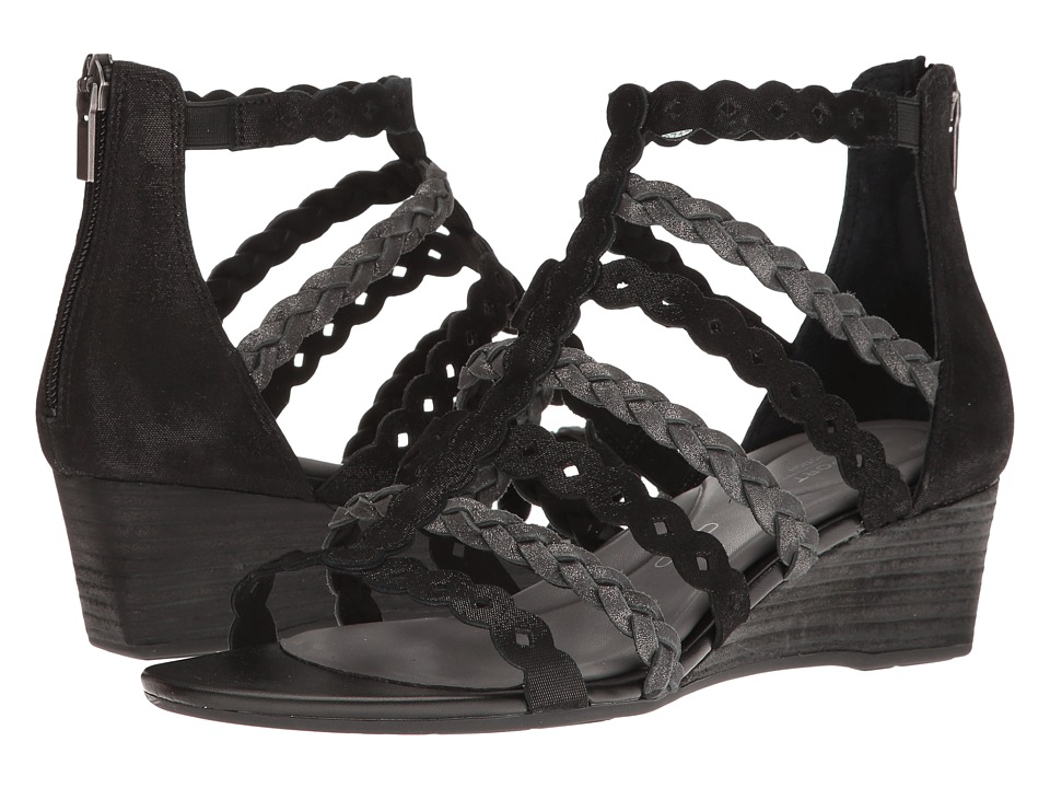 Rockport - Total Motion 55mm Wedge Gladiator Sandal (Black) Women's Wedge Shoes