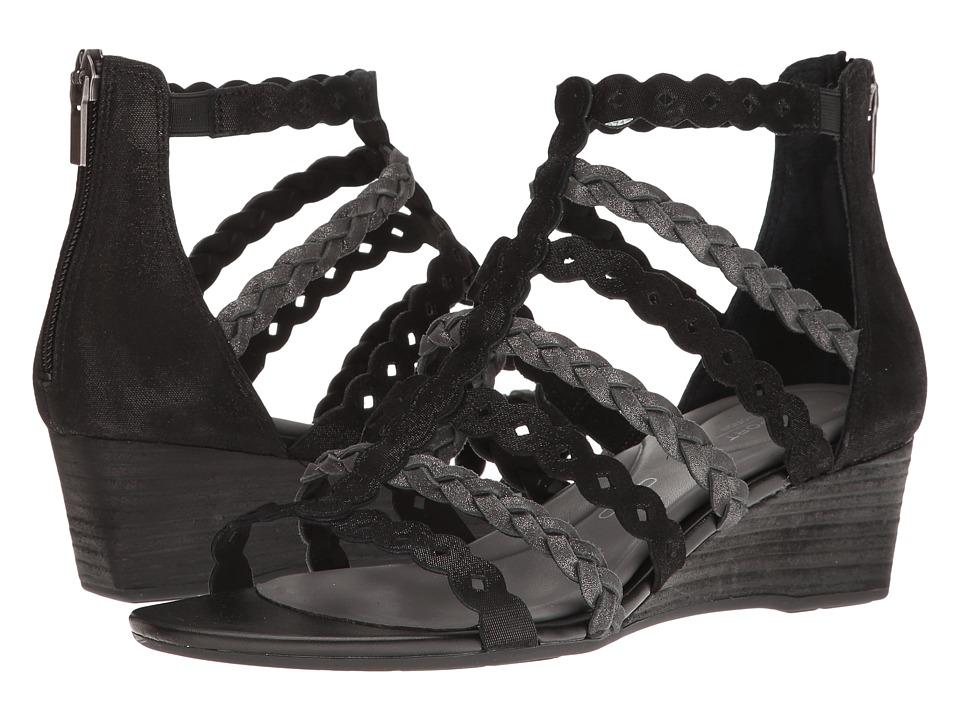 Rockport - Total Motion 55mm Wedge Gladiator Sandal (Black) Women's Wedge Shoes