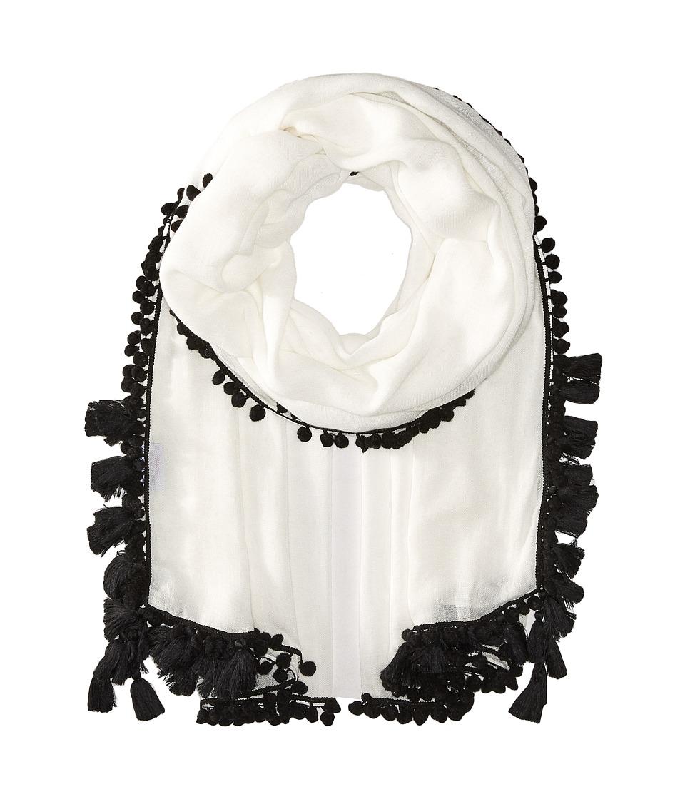 Bindya - Pom Pom Tassel Scarf (Black) Scarves