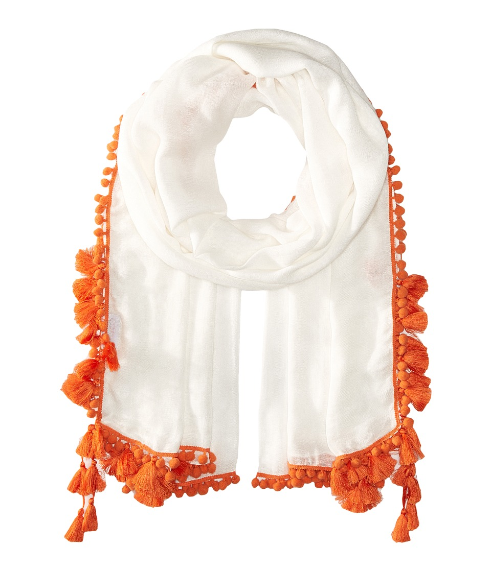 Bindya - Pom Pom Tassel Scarf (Orange) Scarves