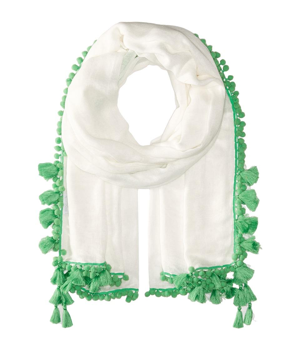 Bindya - Pom Pom Tassel Scarf (Green) Scarves