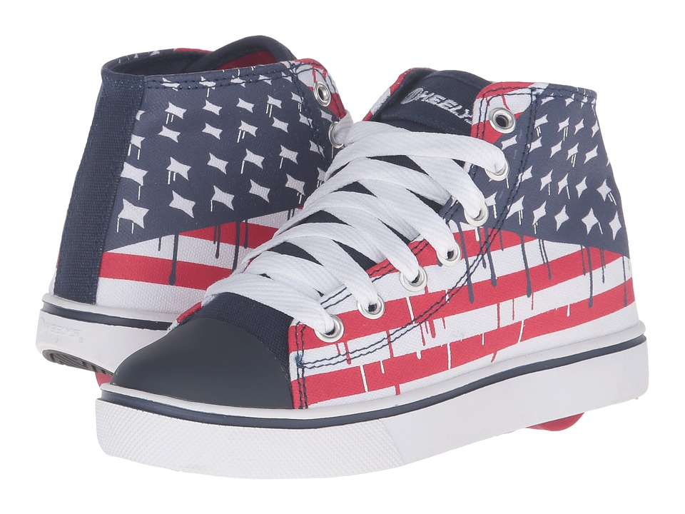 Heelys - Hustle American Flag (Little Kid/Big Kid/Adult) (Blue/White/Red) Boys Shoes