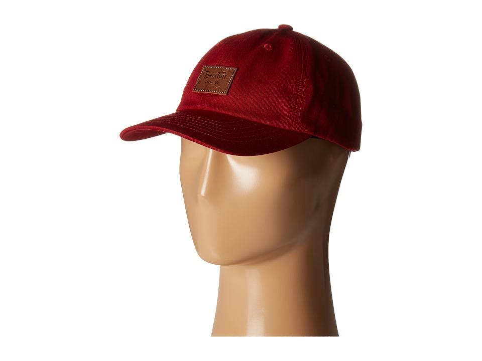 Brixton - Grade Cap (Burgundy) Caps