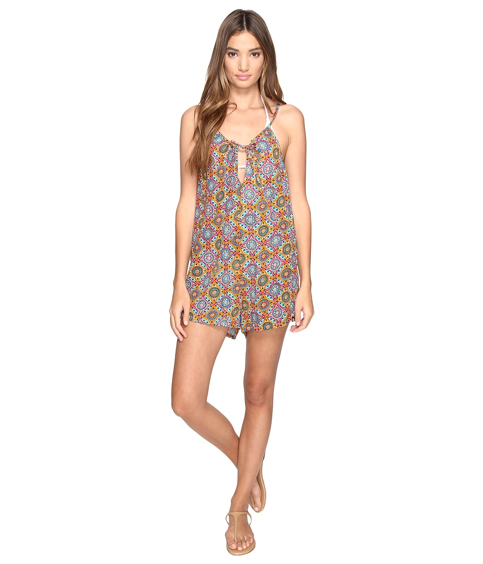 Volcom - Current State Romper Cover-Up (Multi) Women's Jumpsuit & Rompers One Piece