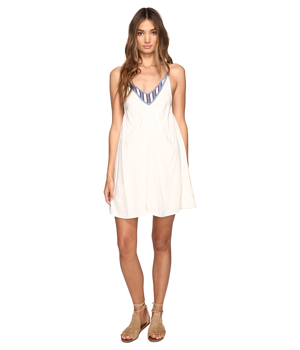 Volcom Money Tree Dress (Vintage White) Women