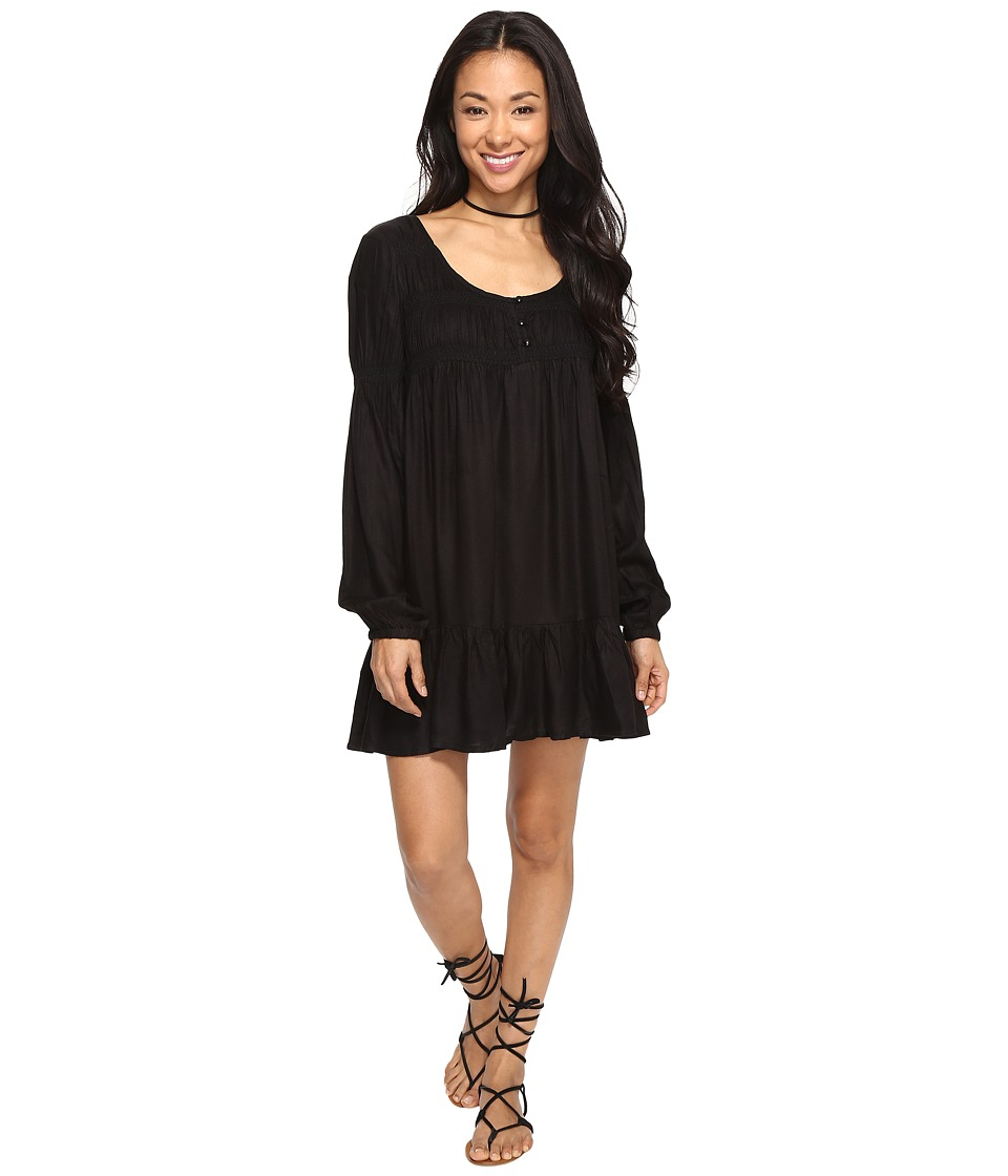 Volcom - Ethos Long Sleeve Dress (Black) Women's Dress
