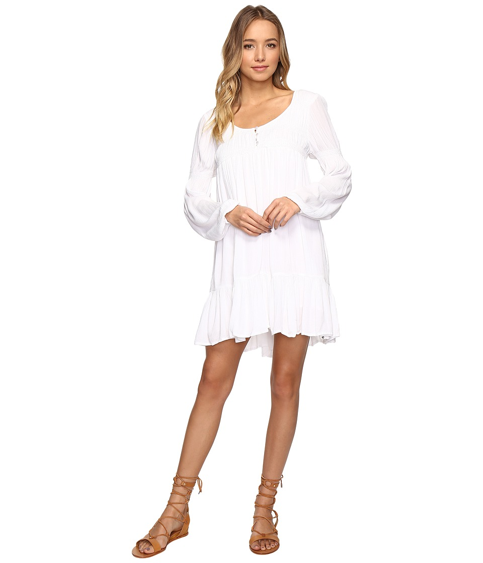 Volcom - Ethos Long Sleeve Dress (White) Women's Dress