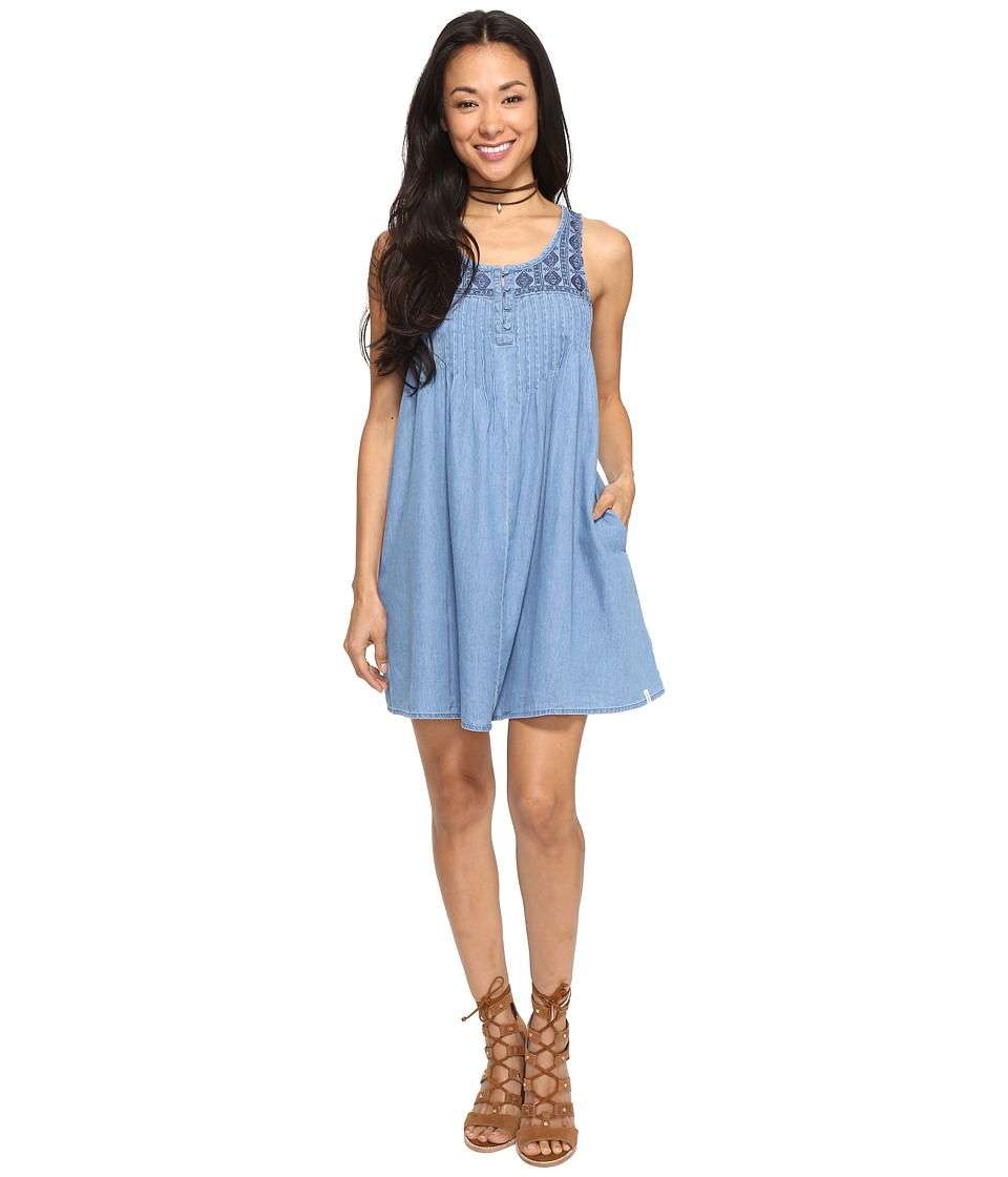 Volcom - Cham Hey Dress (Cloud Blue) Women's Dress