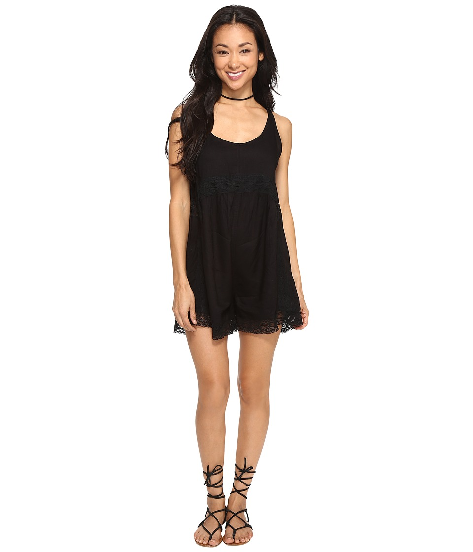 Volcom - In My Lane Romper (Black) Women's Jumpsuit & Rompers One Piece