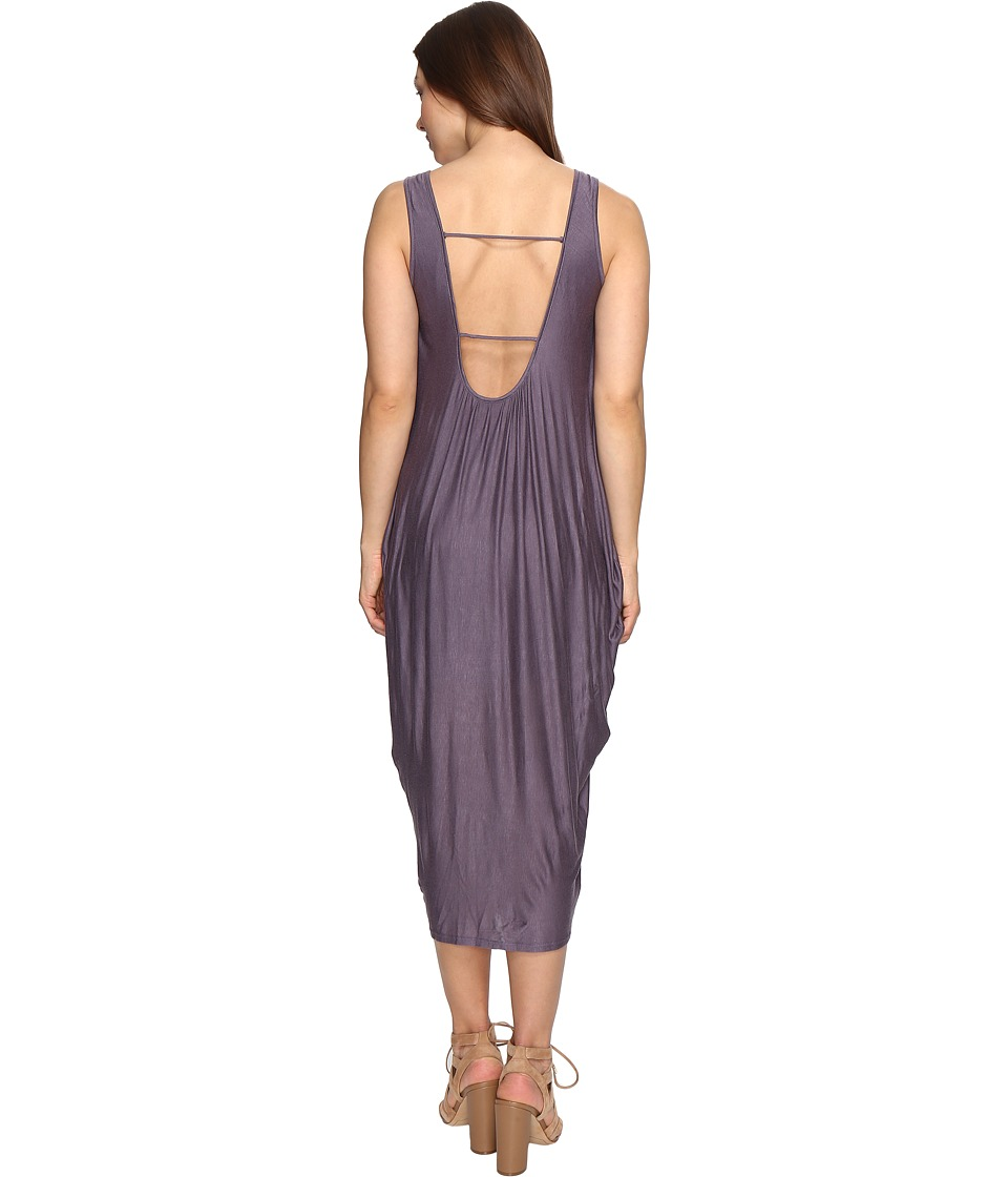 Culture Phit Delia Sleeveless Dress with Back Detail (Mauve) Women
