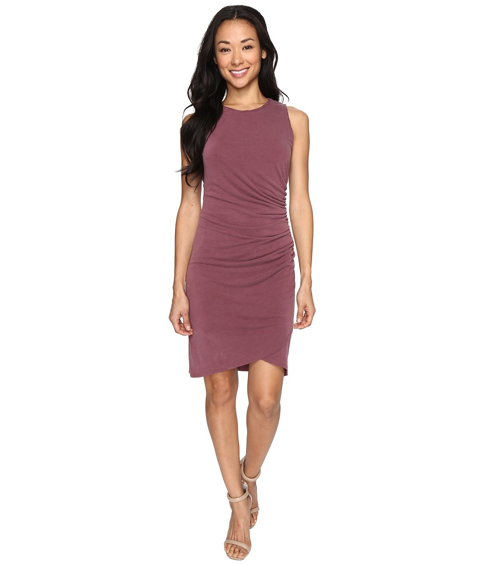 Culture Phit Cheyenne Sleeveless Dress with Ruched Side (Merlot) Women
