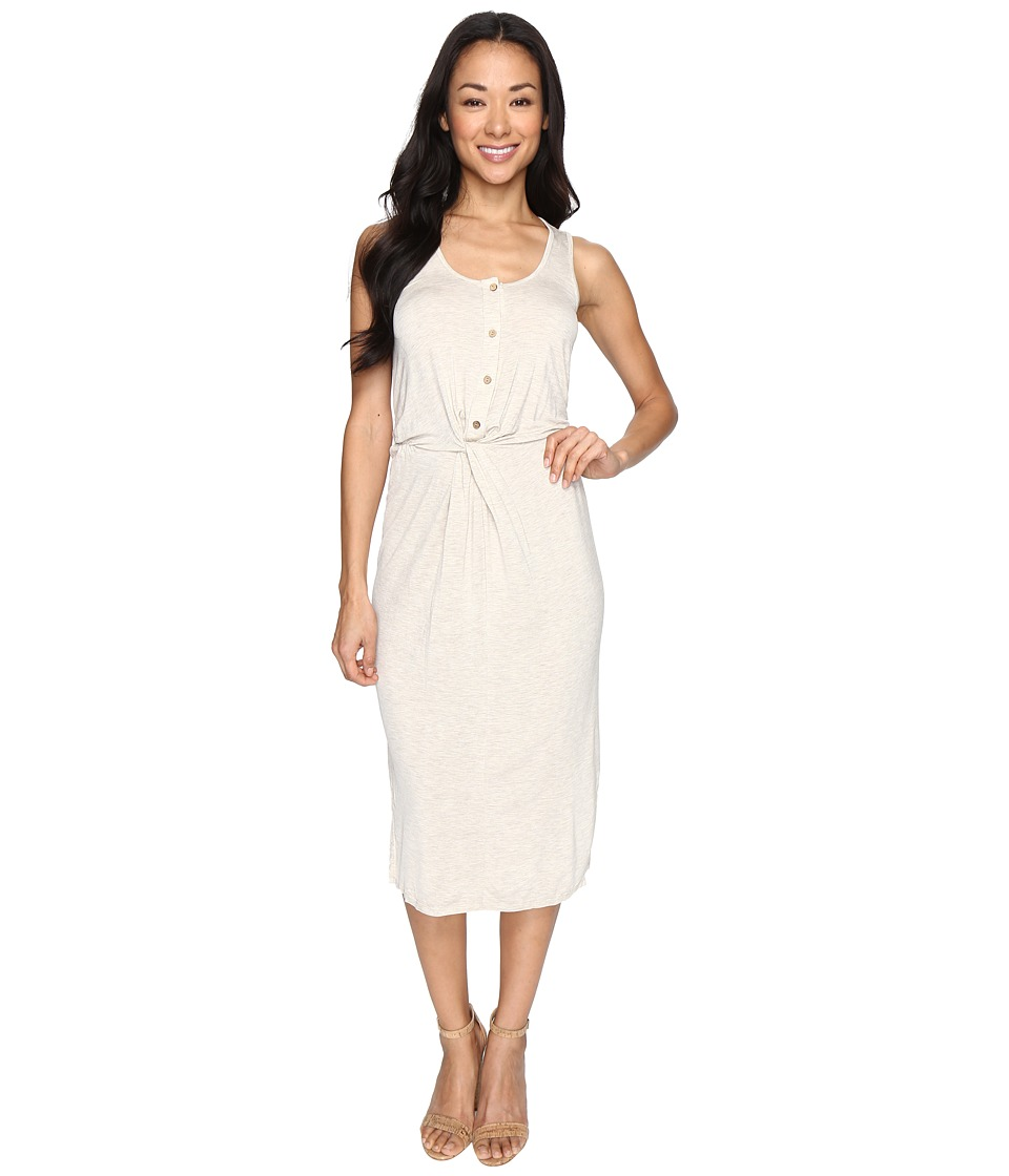 Culture Phit - Elisa Sleeveless Button Up Dress with Twist Detail (Natural) Women's Dress