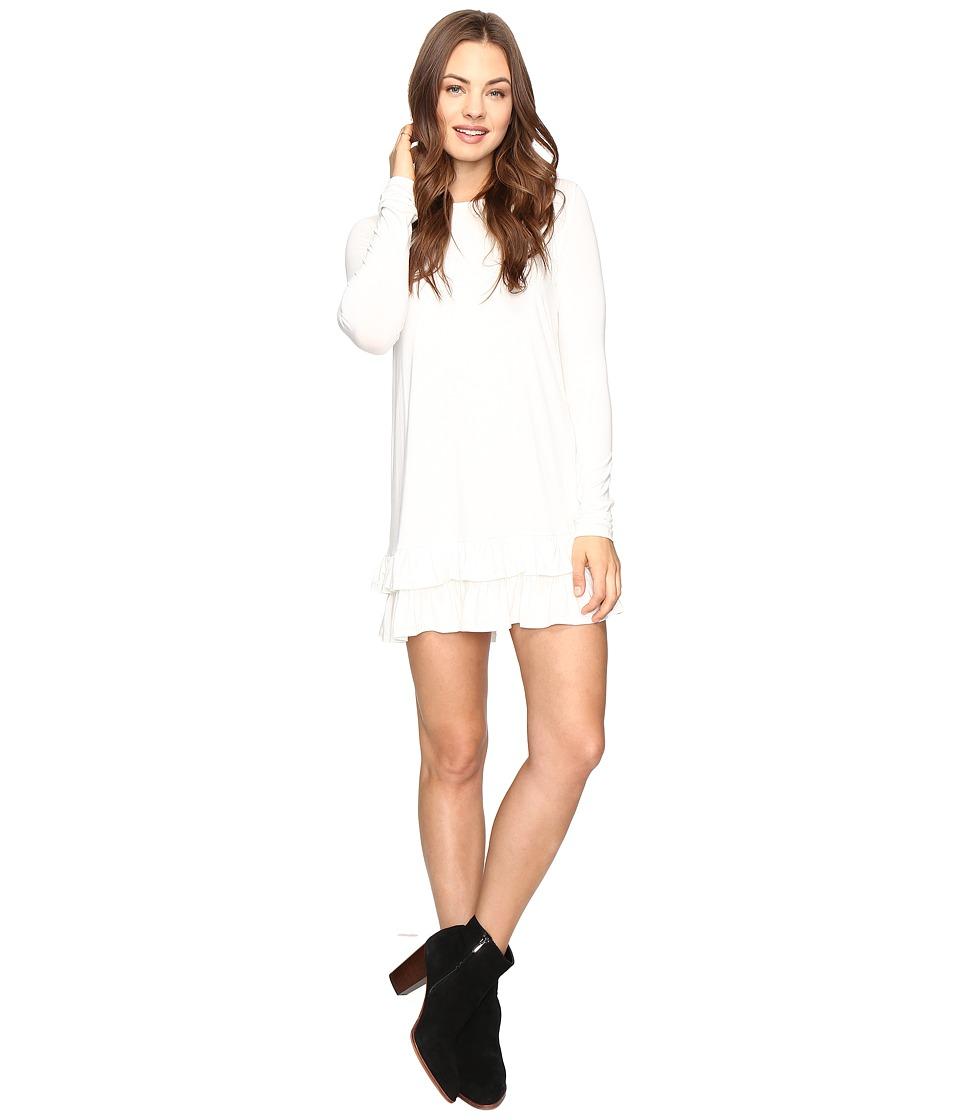 Culture Phit - Sierra Ruffle Bottom Dress (Cream) Women's Clothing