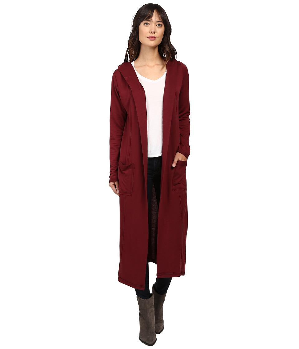 Culture Phit - Viviana Long Cardigan (Burgundy) Women's Sweater
