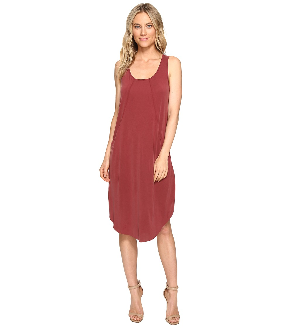 Culture Phit - Johanna Sleeveless Pocketed Dress (Dusty Burgundy) Women's Dress