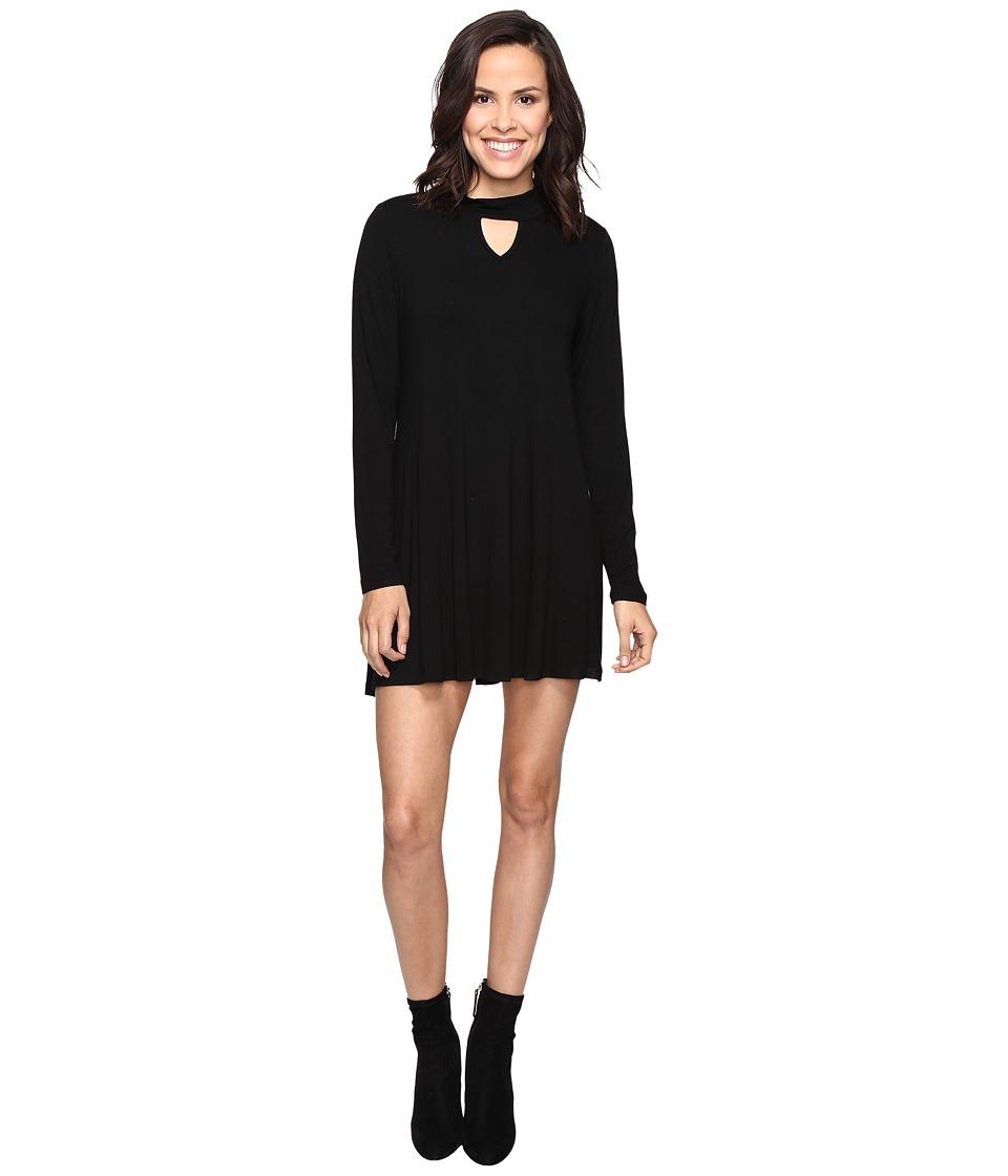 Culture Phit Priscilla Long Sleeve Keyhole Dress (Black) Women