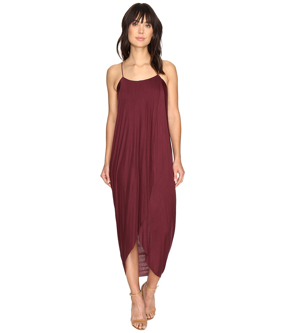 Culture Phit - Daphne Spaghetti Strap Maxi Dress (Burgundy) Women's Dress