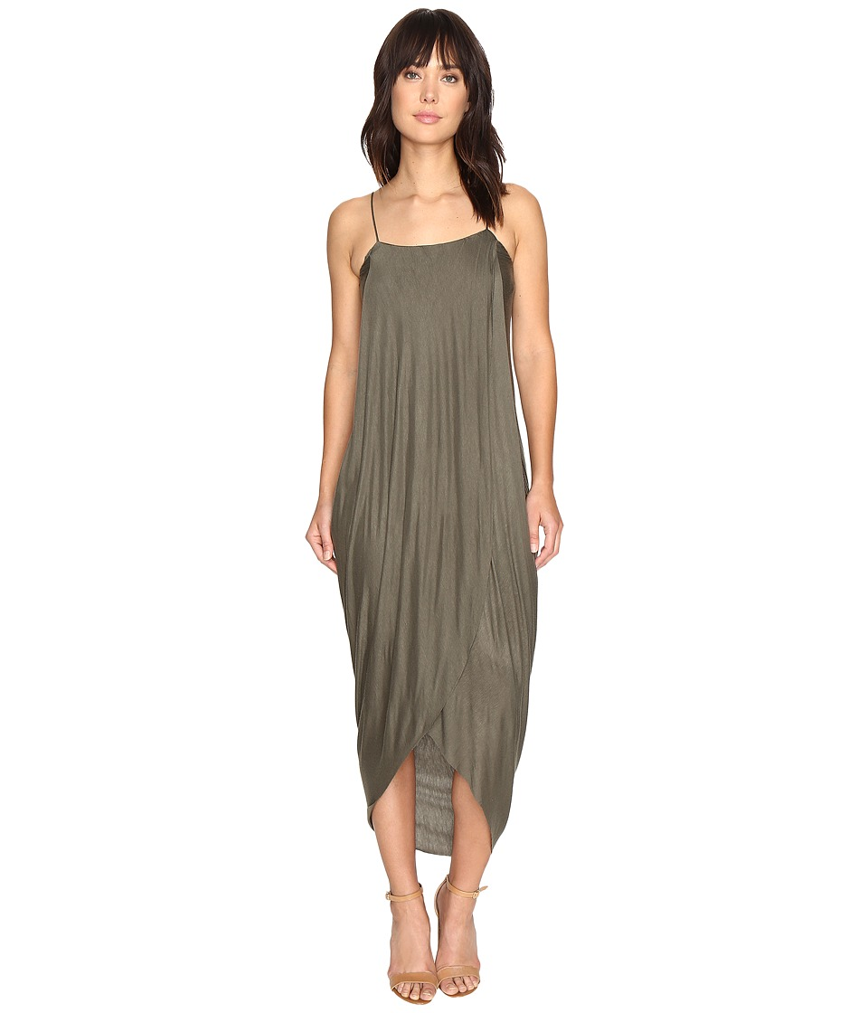 Culture Phit - Daphne Spaghetti Strap Maxi Dress (Olive) Women's Dress