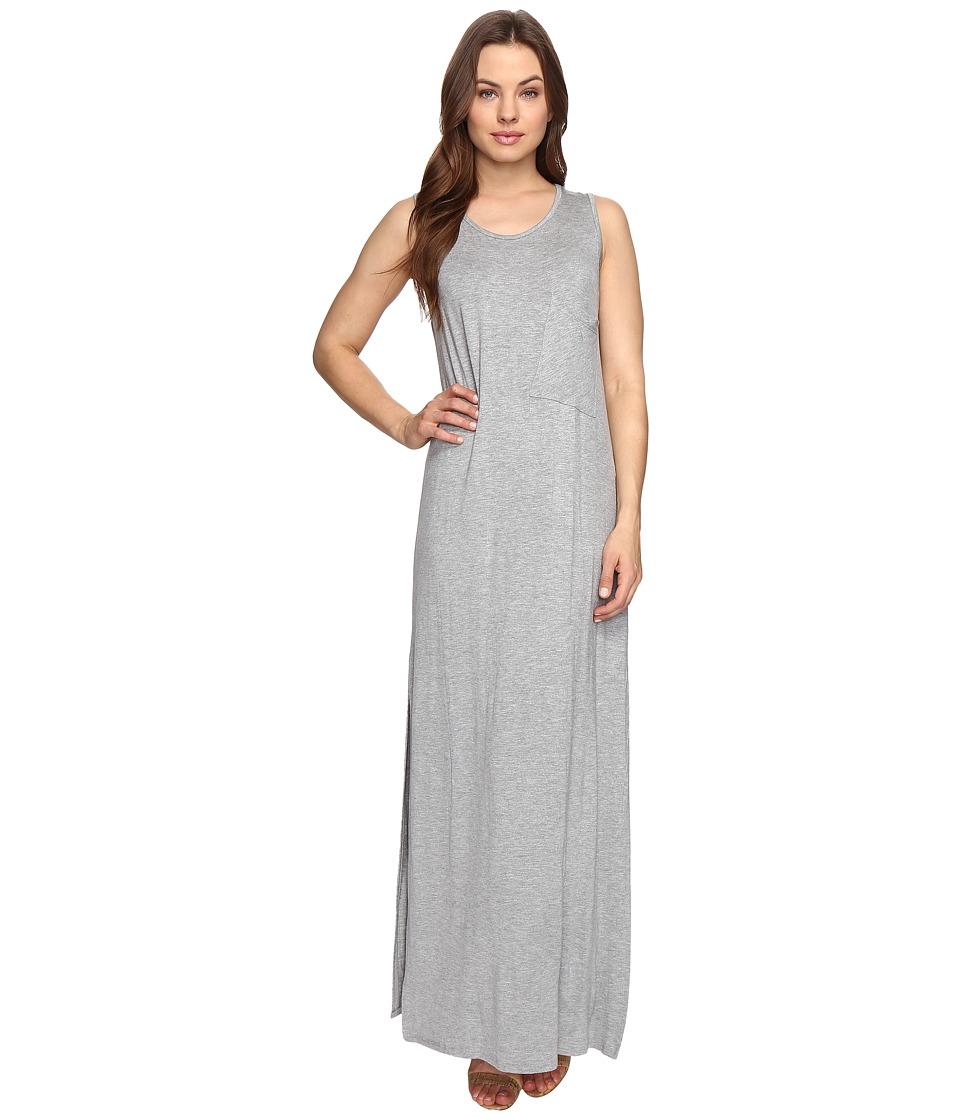 Culture Phit Hattie Sleeveless Maxi Dress with Pocket (Heather Grey) Women