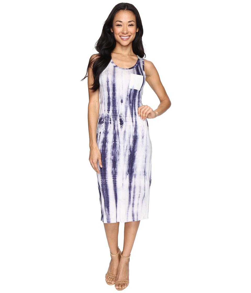 Culture Phit - Emalyn Sleeveless Tie-Dye Dress with Pocket (Navy) Women's Dress