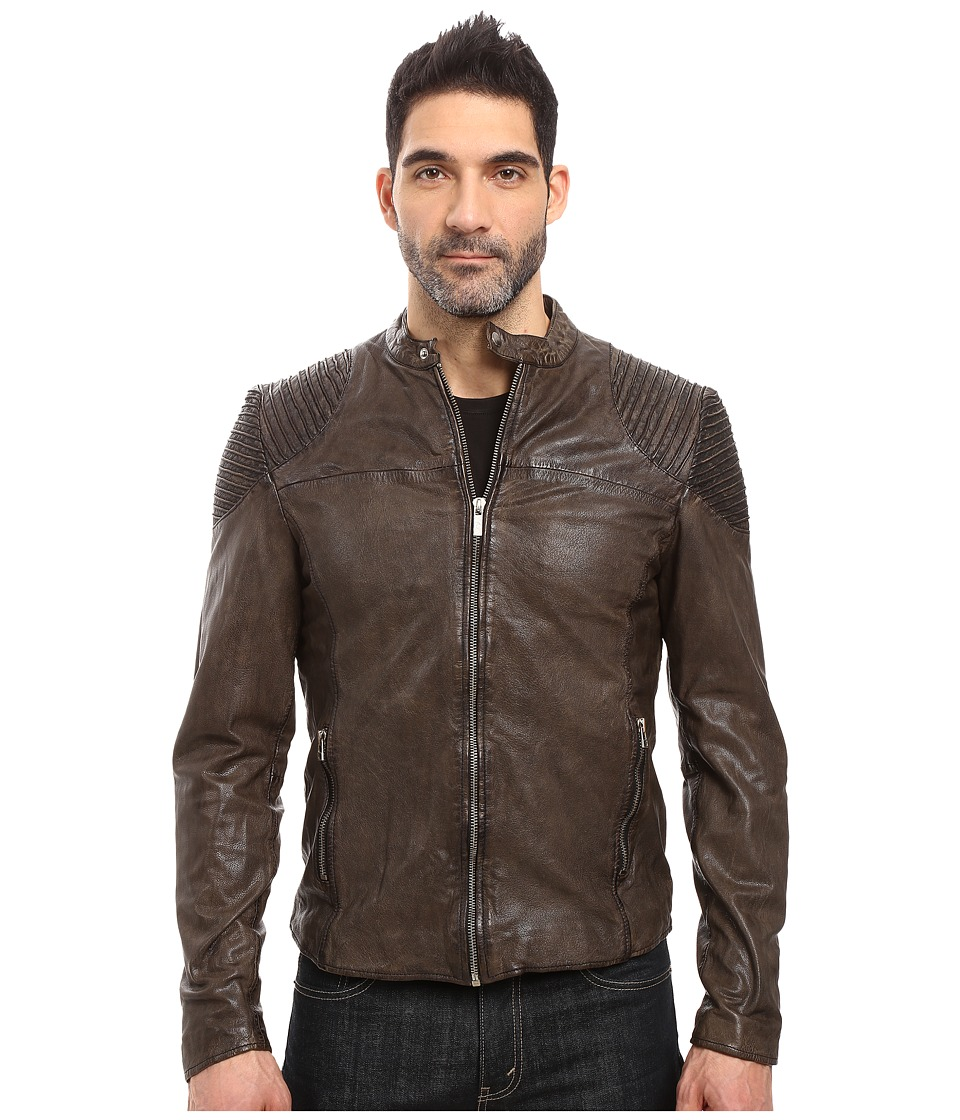 Goosecraft - Goat Biker Jacket (Charcoal) Men's Coat
