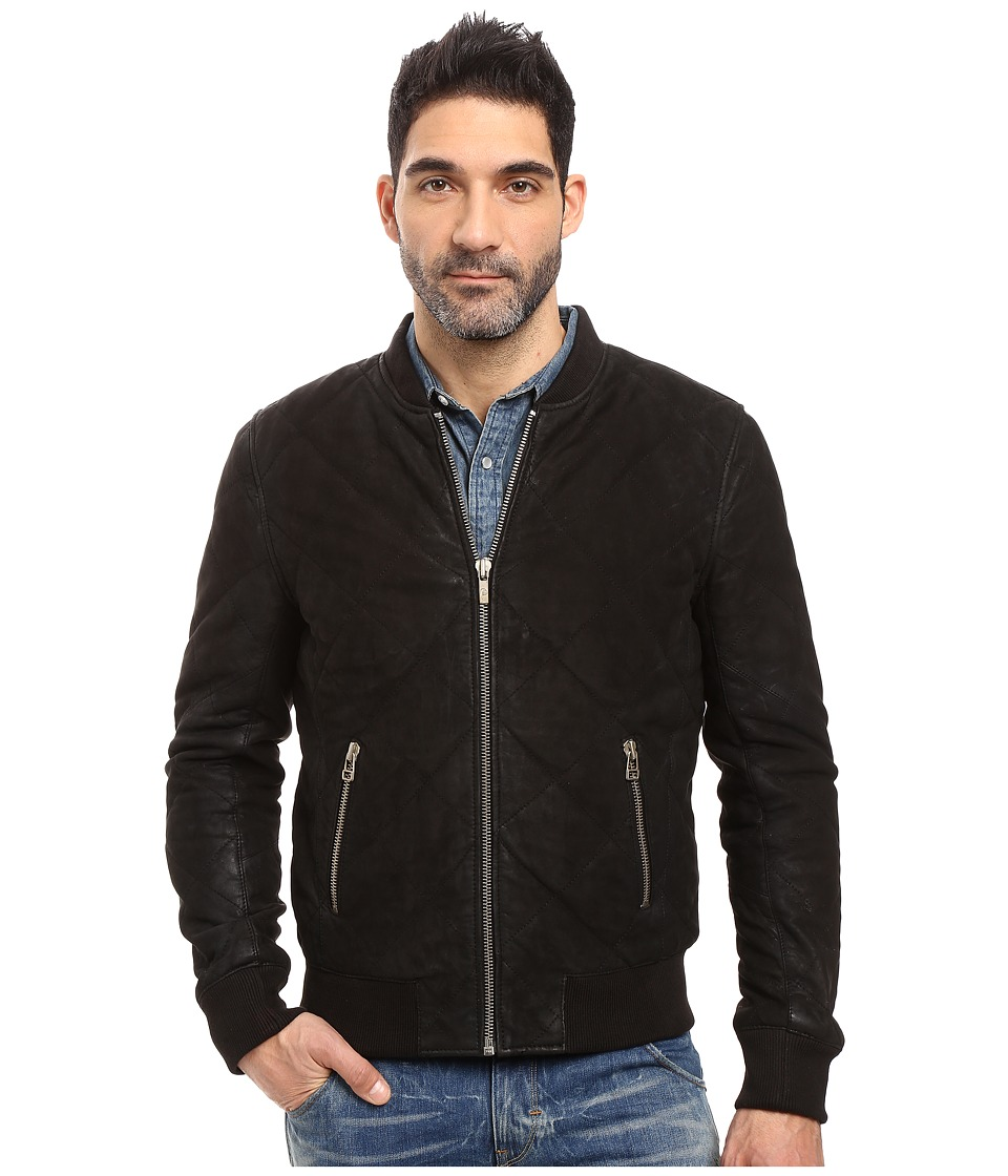 Goosecraft - Lamb Nubuck Washed Jacket (Black) Men's Coat