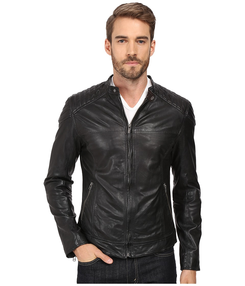 Goosecraft - Sheep Skin Biker Jacket 919 (Black) Men's Coat