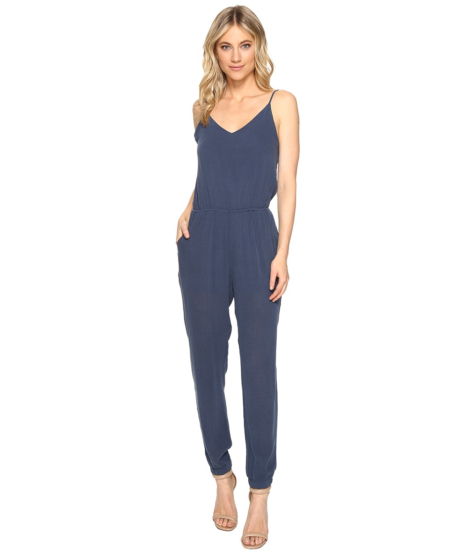Culture Phit - Juno Spaghetti Strap Pocketed Jumper (Navy) Women's Jumpsuit & Rompers One Piece