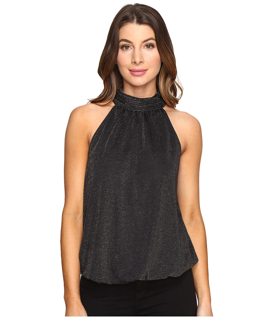 CATHERINE Catherine Malandrino - Sleeveless Mock Neck Top (Black/Gold) Women's Clothing