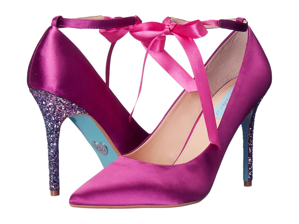 Blue by Betsey Johnson Bri (Fuchsia Satin) High Heels