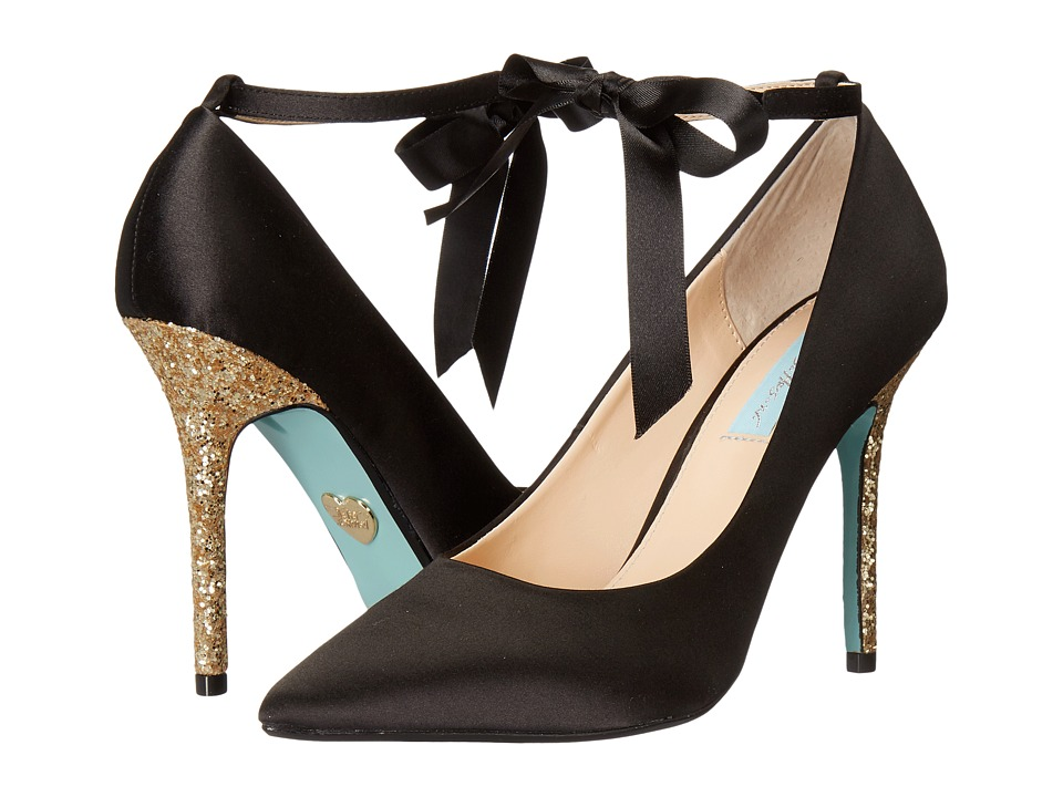 Betsey Johnson Bri (Black Satin) High Heels