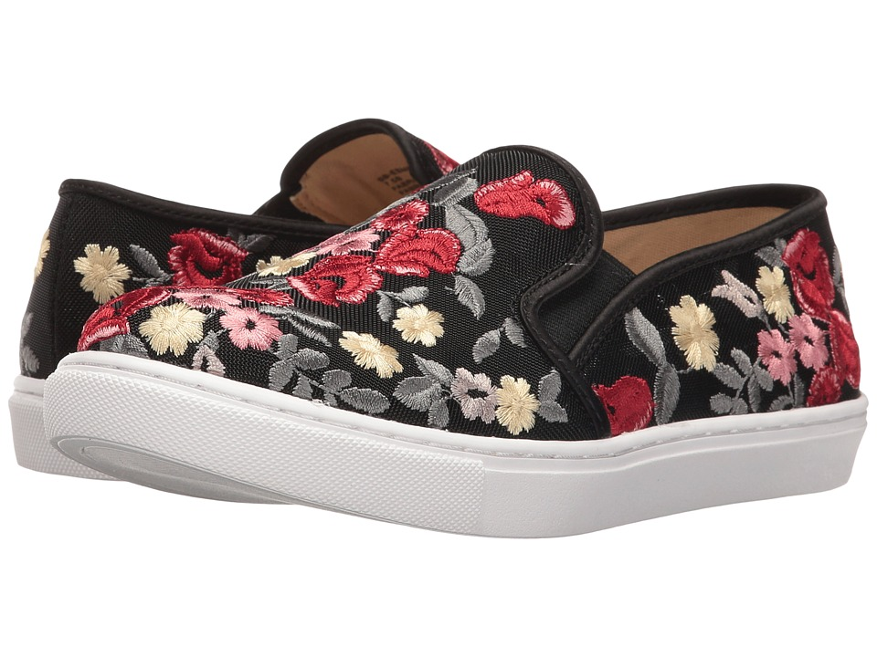 Blue by Betsey Johnson - Esme (Black Floral) Women's Slip on Shoes