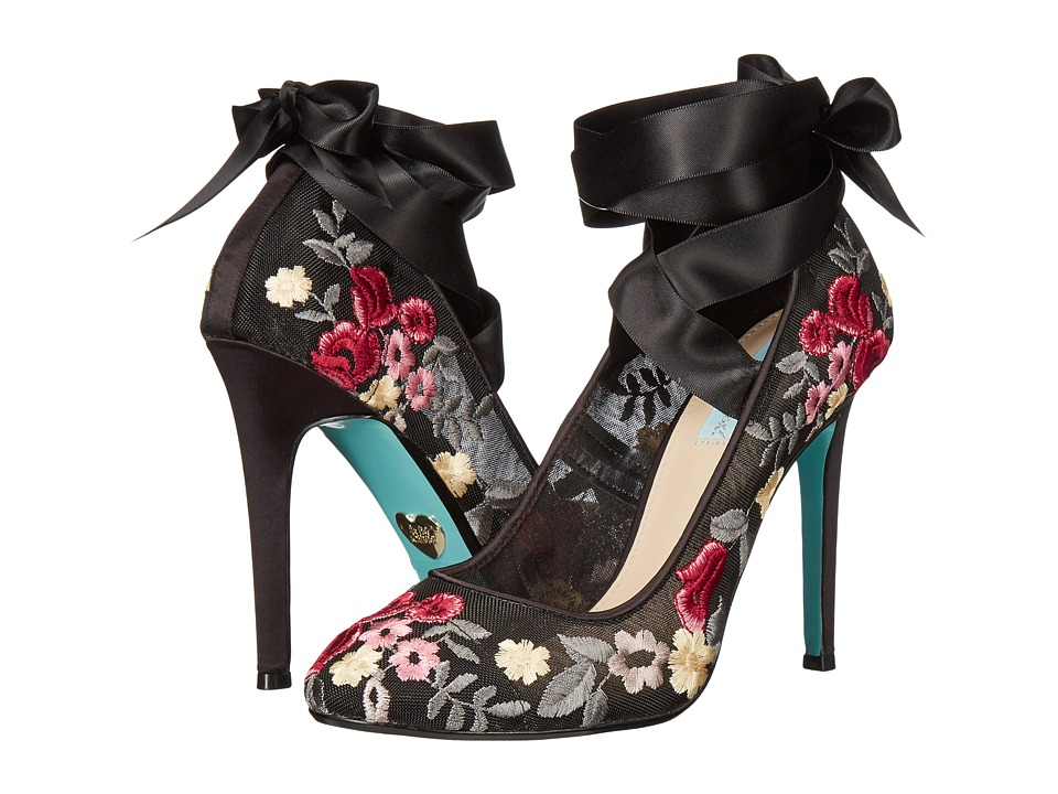 Blue by Betsey Johnson - Jules (Black Floral) High Heels