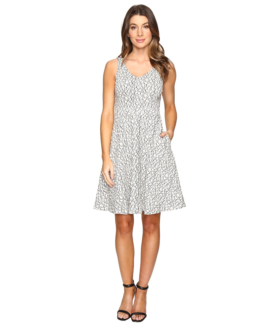 CATHERINE Catherine Malandrino - Sleeveless Lace Jacquard Fit Flare (Heather Lace) Women's Dress