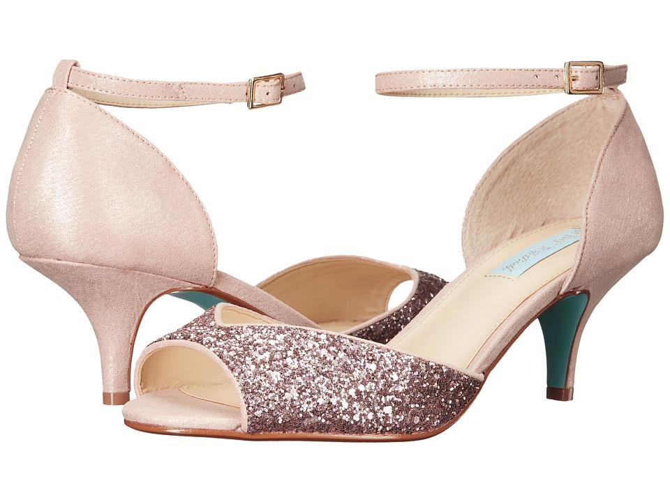 Blue by Betsey Johnson - Rita (Blush Glitter) Women's 1-2 inch heel Shoes