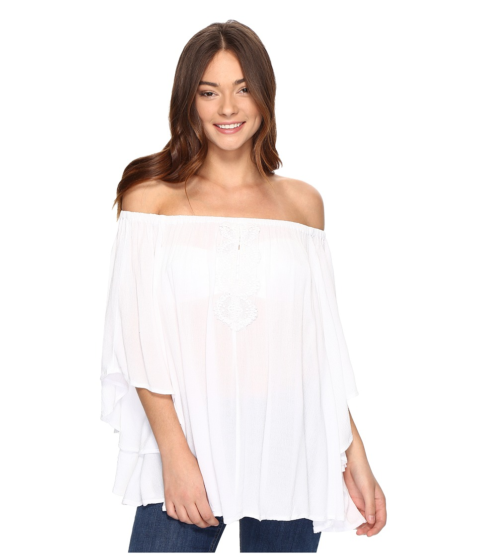 Volcom - Red Eye Off Shoulder (White) Women's Clothing