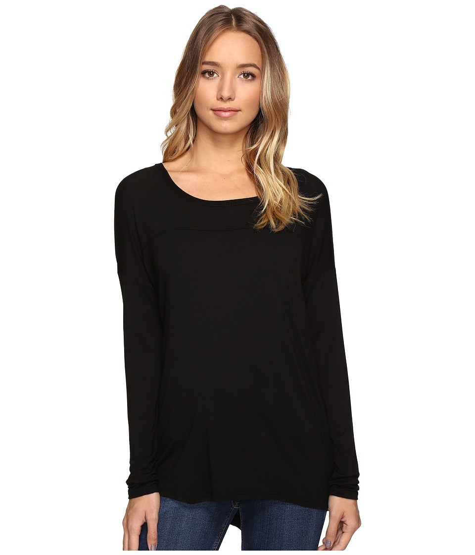 Volcom - Lived in Long Sleeve (Black) Women's Clothing
